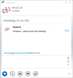 mobicall firealrm
