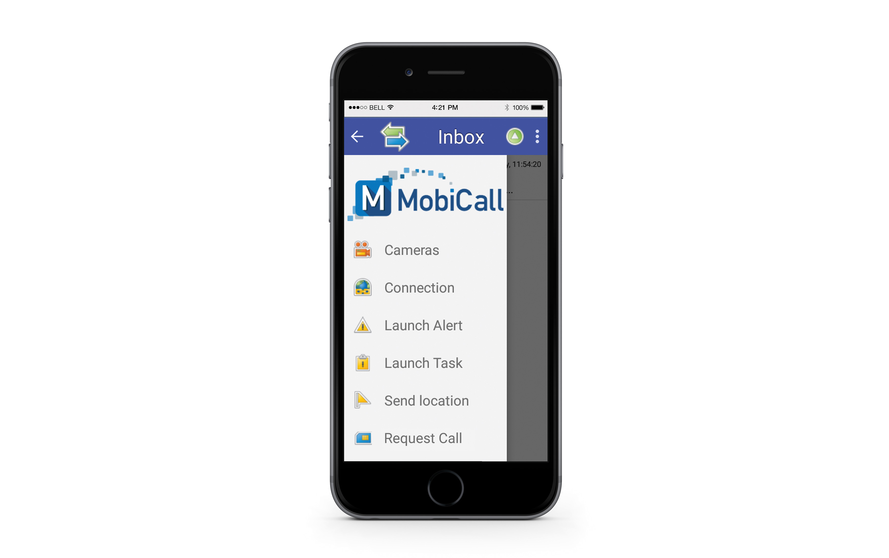 mobicall app interface